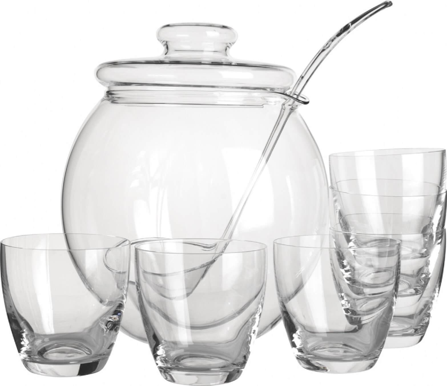 Punch-bowle-med-glas-og-opøse-ske-Mixmeister.dk