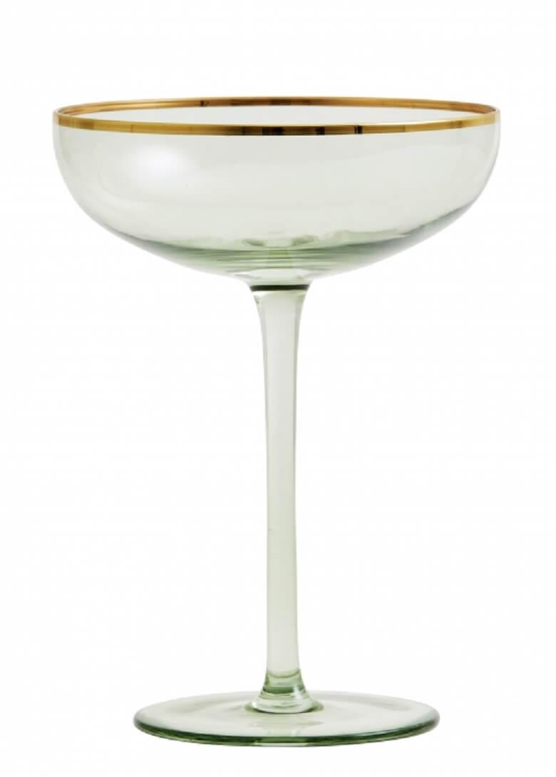 Nordal-greena-coupe-cocktails-champagne-glas-med-guldkant-mixmeister.dk