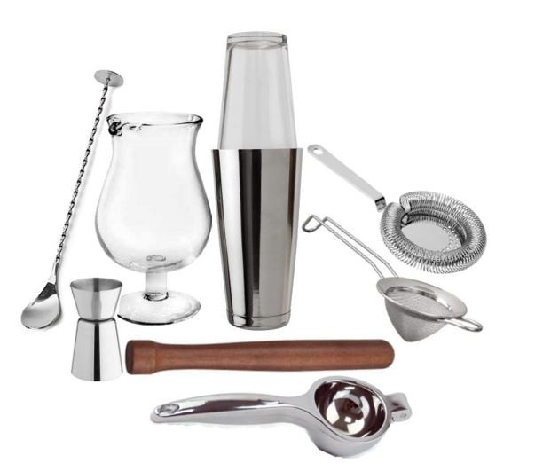 øvet-barsæt-mixing-glas-barske-jigger-muddler-citron-lime-presser-fine-boston-shaker-striner-mixmeister.dk