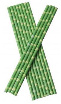 Bionedbrydende-Papir-Sugerør-100- stk-Bamus-look-tiki