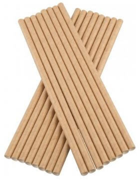 Bionedbrydende-Papir-Sugerør-Beige-100-stk.