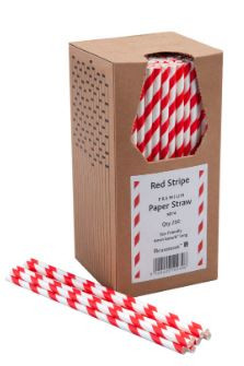 Bionedbrydende-Papir-Sugerør-Røde-og-hvide-250-stk