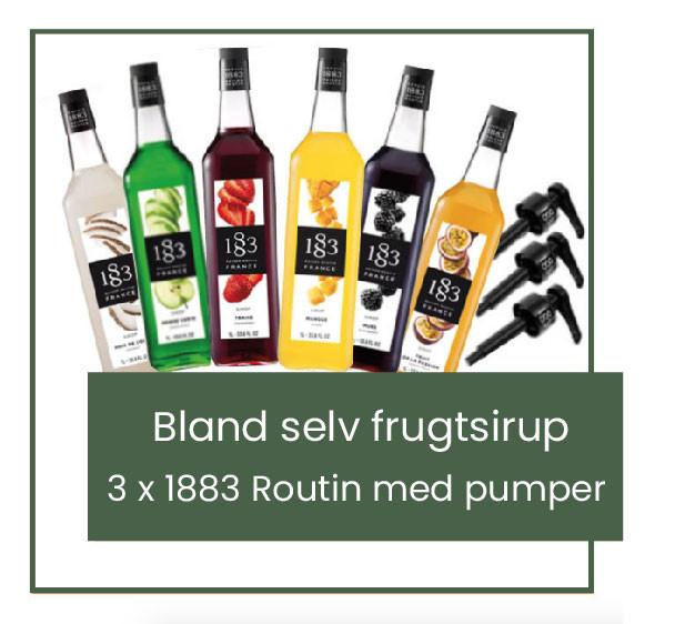 bland-selv-frugt-sirup-sæt-1883-routin-med-doserings-pumper-mixmeister