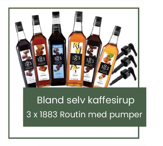 Blands-elvkaffe-sirup-sæt-1883-routin-med-doserings-pumpe-mixmeister