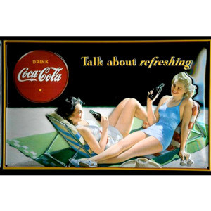 Metal-Skilt-Coca-Cola-Talk-about-Refreshing