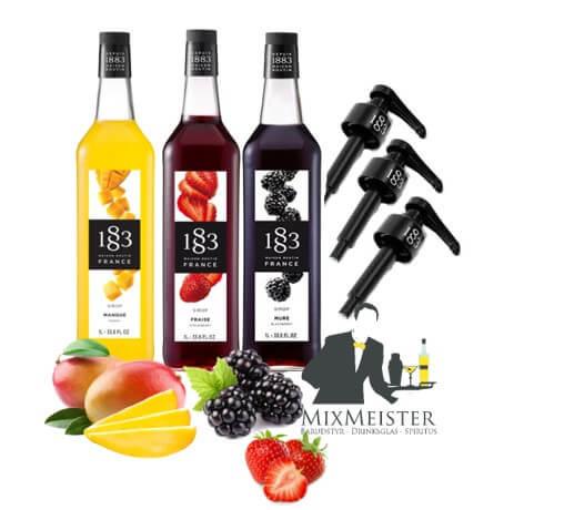 drinks-sirup-mango-brombær-jordbær-sirupper-sæt-doserings-pumper-1883-routin