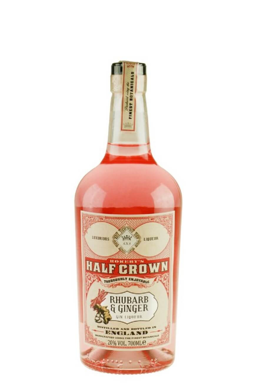 Half-crown-rababer-ingefær-rhubarb-ginger-gin-likør-mixmeister.dk