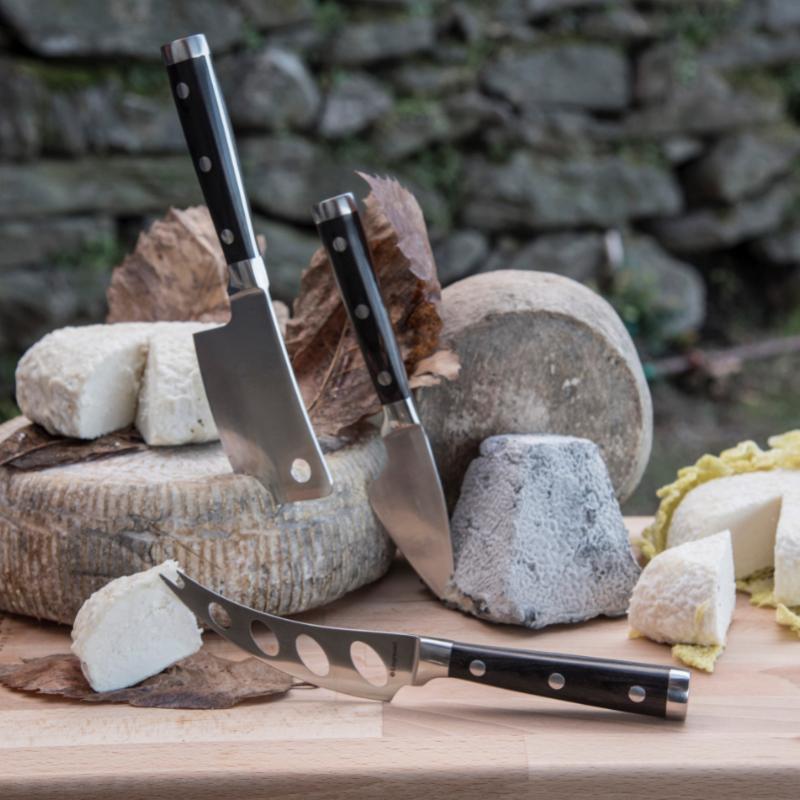 Deluxe-Legnoart-3-oste-knive-til-ost-wenge-mørkt-træ-Lattevivo-Mixmeister.dk