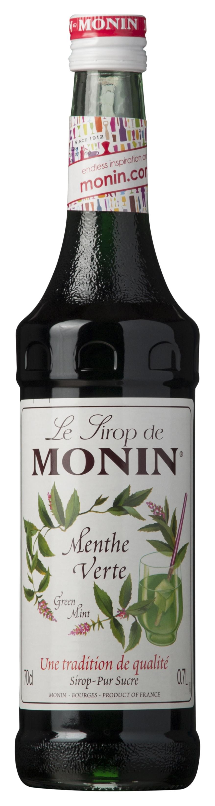 Monin-Grøn-Pebermynte-Sirup-Menthe-Verte