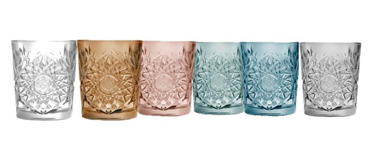 hobstar-glas-drikke-vand-rosa-brun-blå-grøn-sort-mixmeister.dk