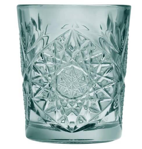 hobstar-libbey-lowball-støvet-grøn-drinks-cocktail-glas