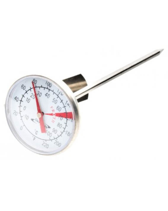 Mælke-termometer-0-100°-Rustfrit stål