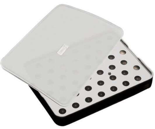 Lurch-Isterningebakke-sort-silikone-låg-rund-ø2