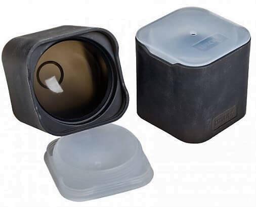 Lurch-Isterningebakke-sort-silikone-låg-rund