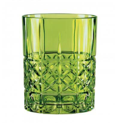 Nachtmann-Highland-Dimond-Whisky-whiskey-tumbler-lowball-krystal-glas-grøn-reseda