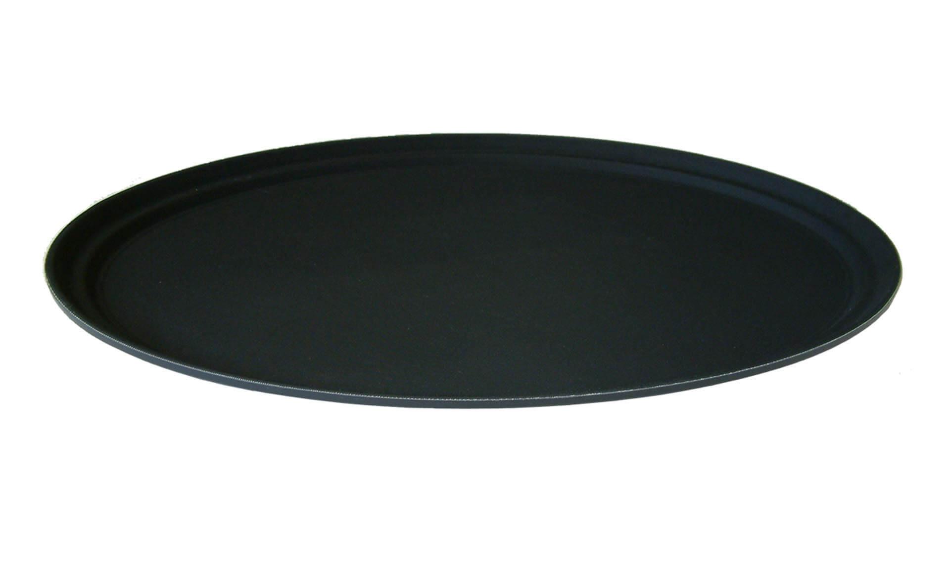 Stor-oval-skridsikker-Serveringsbakke-sort