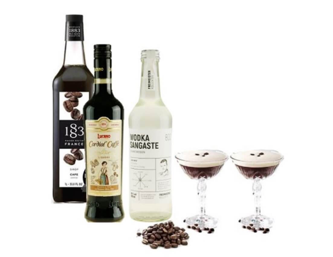 esresso-martini-lucano-kaffe-likør-vodka--palais-coupe-champagne-glas-mixmeister.dk