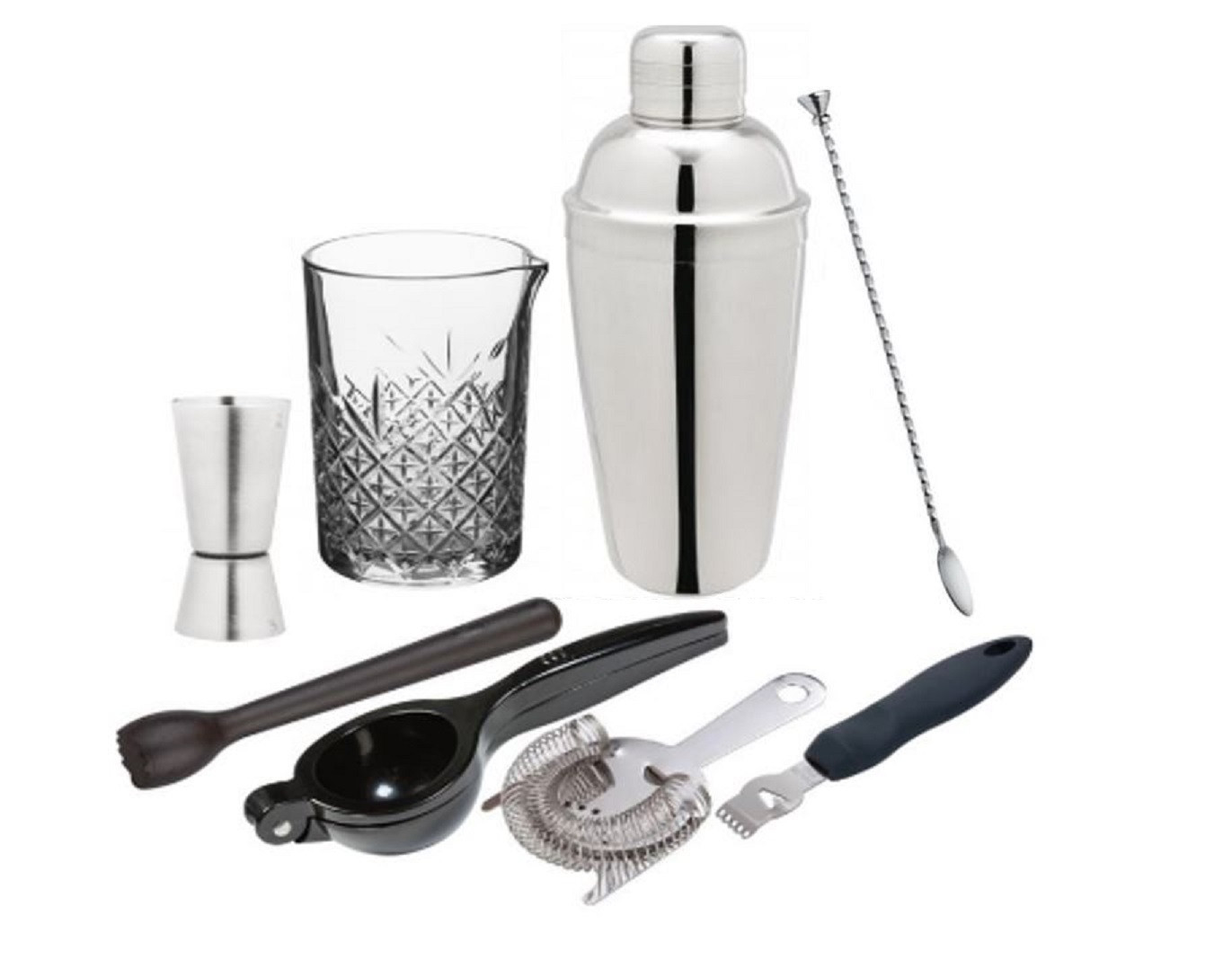 Barudstyr-pakke-med-barværktøj-The-Cocktail-blog-Morten-Krag-jigger-mixingglas-shaker-art-deco-barske-morter-citron-limepresser-strainer-peeler