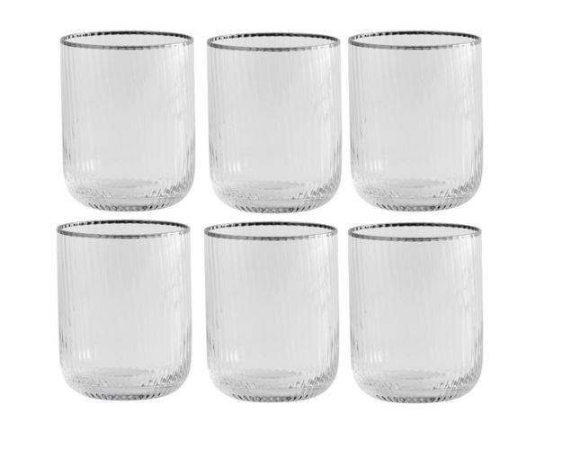 Rilly-vand-drikke-glas-med-sølv-kant-lowball-mixmeister.dk