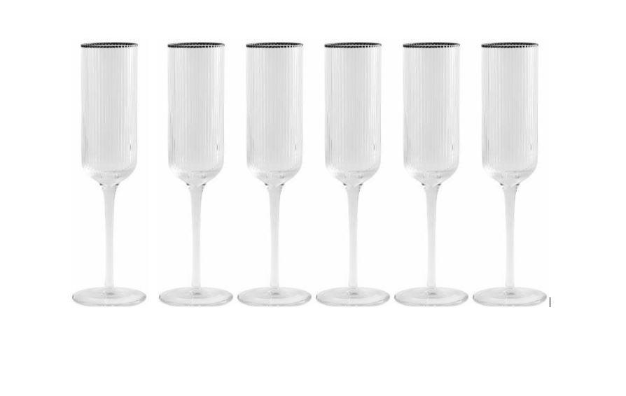 rilly-champagne-glas-med-sølv-kant-flute-mixmeister.dk