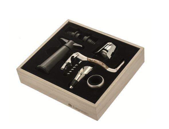 Vinsæt-med-7-dele-rødvin-rosse-champagne-hvidvin-tilbehør-kasse-vinæske-værktøj-Legnoart-proptrækker-skænkeprop-champagnestopper-mixmeister-alt-i-bar-udstyr