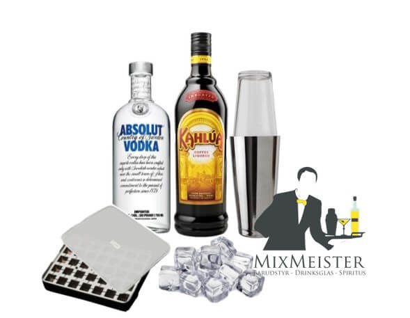 white-russian-drinksopskrift-drinks-pakke-cocktail-absolut-vodka-kahlua-lurch-isterningebakke-boston-shaker