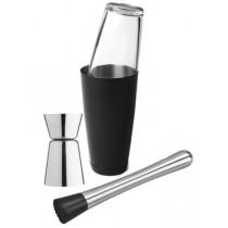 Barudstyr-Mini-sæt-Mix-Meister-Barsæt-morter-muddler-shaker-boston-jigger-målebærger