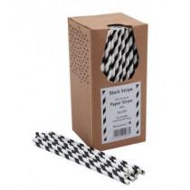 Bionedbrydende-Papir-Sugerør-Sorte-og-hvide-250-stk