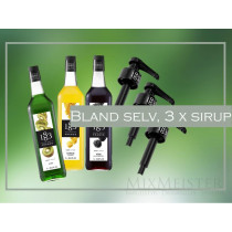 bland-selv-frugt-sirup-1883-routin-med-doserings-pumpe-mixmeister.dk
