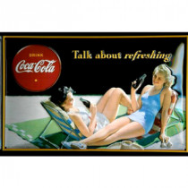 Metal-Skilt-Coca-Cola-Talk-about-Refreshing