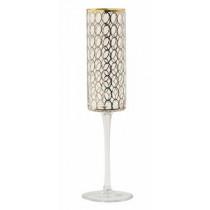 Nordal-Circle-champagneglas-flute-i-guld-mønster-mixmeister.dk
