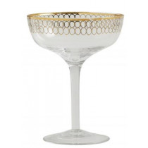 Nordal-Circle-coupe-cocktailglas-i-guld-champagne-glas-mixmeister.dk