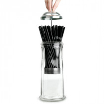 Retro Glas Sugerørs Dispenser.