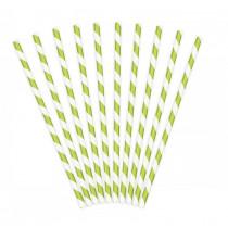 grøn-hvid-stribet-papir-sugerør-bionedbrydende-miljø-venlige-klima