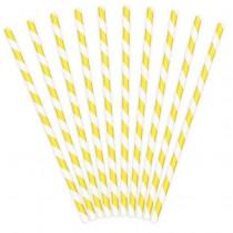 gul-hvid-stribet-papirsugerør-mixmeister-bionedbrydelige-miljø-klima-venlige