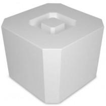 Isspand-4,5-Liter-8-kanter-Hvid-Plast