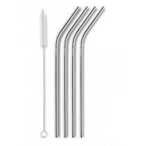 klimatosse-metal-stål-sugerør-med-knæk-rustfrit-stål-med-rengørings-børste-mixmeister