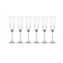 6 champagneglas i krystal RCR Sabina
