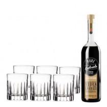 Shot-krystalglas-med-pure-Lakrids-shots