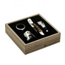 Vinsæt-rødvin-hvidvin-tilbehør-kasse-vinæske-værktøj-Legnoart-proptrækker-skænkeprop-champagnestopper-mixmeister-alt-i-bar-udstyr