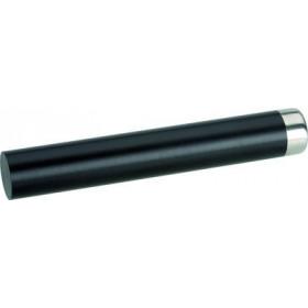 Professionel morter i sort plast med stålhætte - 24 cm