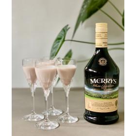 RCR Carrara likørglas med hvid Merrys likør