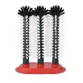 Opvaskebørster med 3 børster - Sugekop