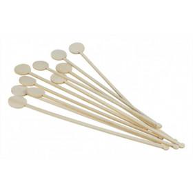 Rørepind til drinks i bambus - 100 stk