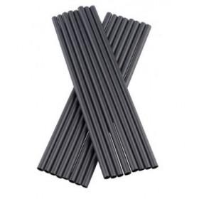 PLA Bionedbrydelige sorte sugerør uden knæk 20 cm - 135 stk.