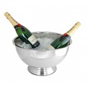 Blank Vin og Champagnebowle 35 cm. - Rustfrit Stål