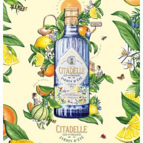 Citadelle Jardin d'éte sommer gin 70 cl.