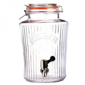 Retro Kilner Drinks dispenser m. riller Orginal - 5 Liter