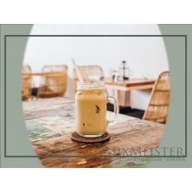 Glas krus med hank - 41,5 cl.
