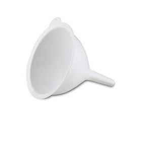 Hvid tragt i plast - 16 cm.